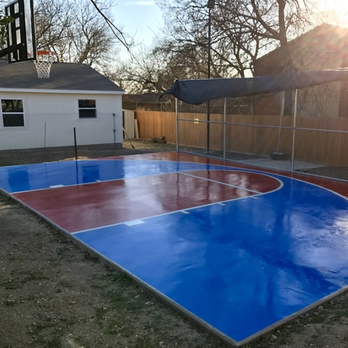 Dallas Basketball Court Striping Dfw, Outdoor Concrete Basketball Court Paint