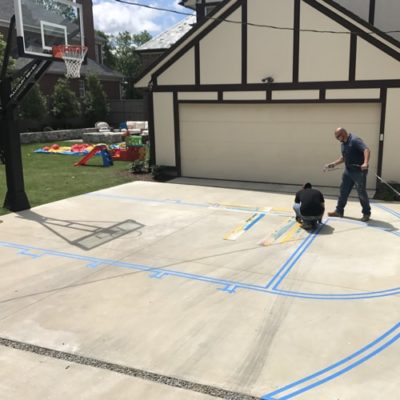 Basketball Court Painting Fort Worth Pavement Marking