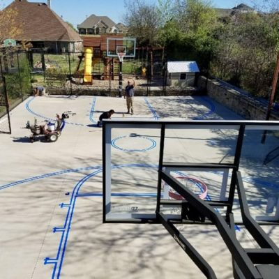 Basketball Striping Court Marking Dallas