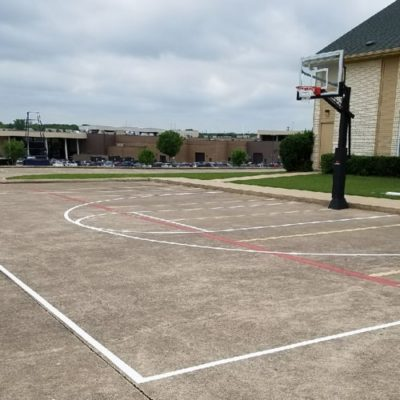 Church Court Striping Sport Lines Painter Fort Worth