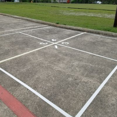 Fort Worth AWANA Court Foursquare Striping