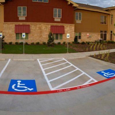 Parking Lot Handicap Stencil Fort Worth