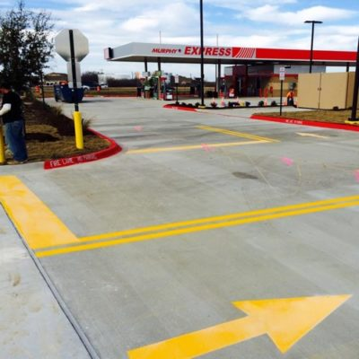 Gas Station Parking Lot Directional Lines