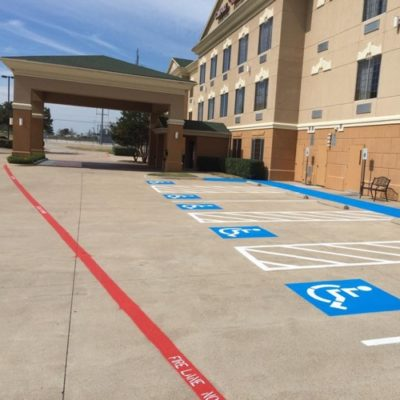 DFW Hotel Parking Lot Striping Company Ft Worth