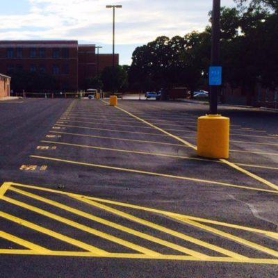 Yellow Parking Lot Striping Dallas