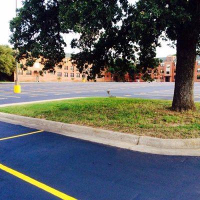 University Parking Lot Painter Texas