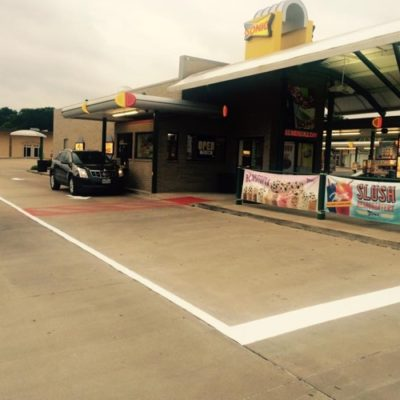 Parking Lot Striping Sonic North Fort Worth