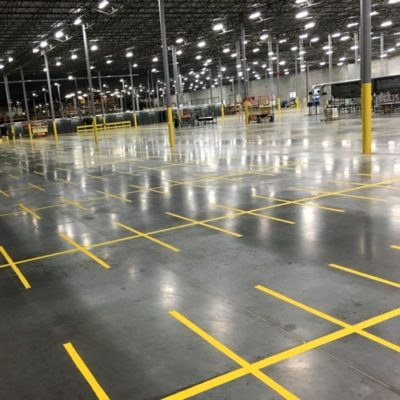 Fort Worth Texas Warehouse Striping