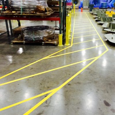 DFW Large Warehouse Striping Company