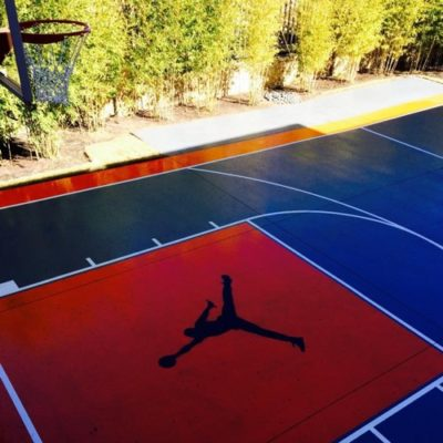 Basketball Court Striping Flower Mound